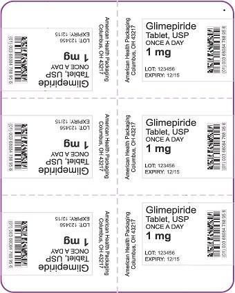 1 mg Glimepiride Tablet Blister