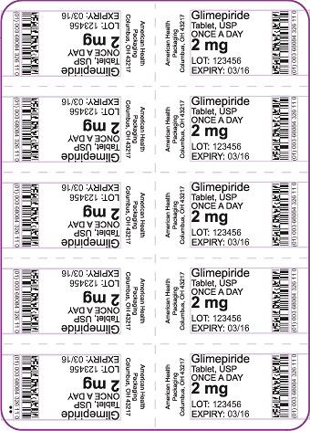 2 mg Glimepiride Tablet Blister