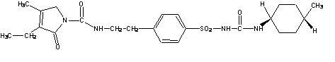 Glimepiride structural formula