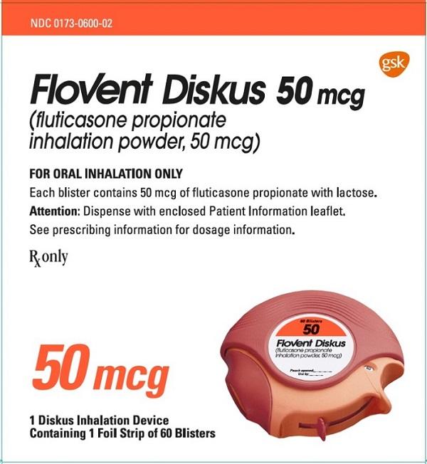 Flovent Diskus 50 mcg 60 dose carton