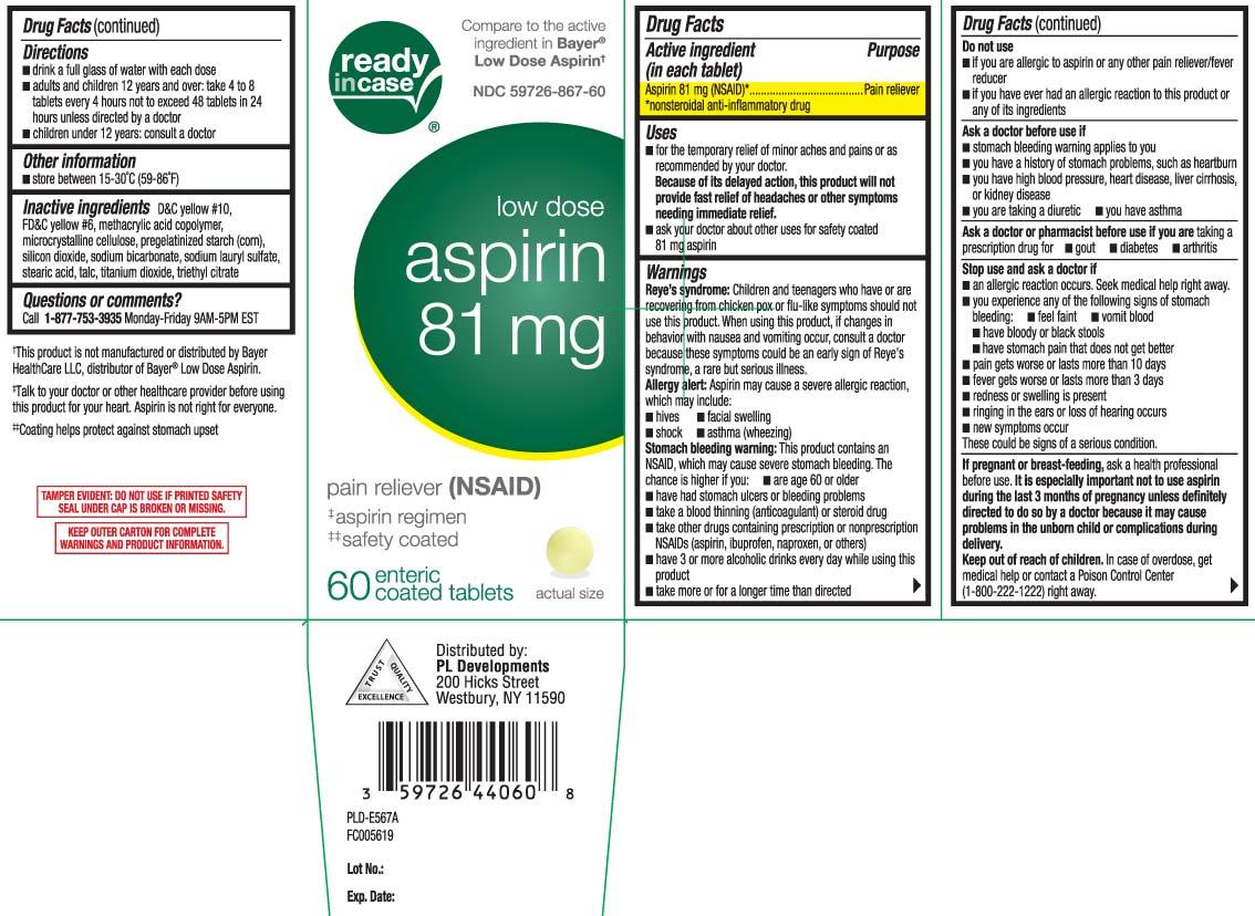 Aspirin 81 mg (NSAID)* *nonsteroidal anti-inflammatory drug