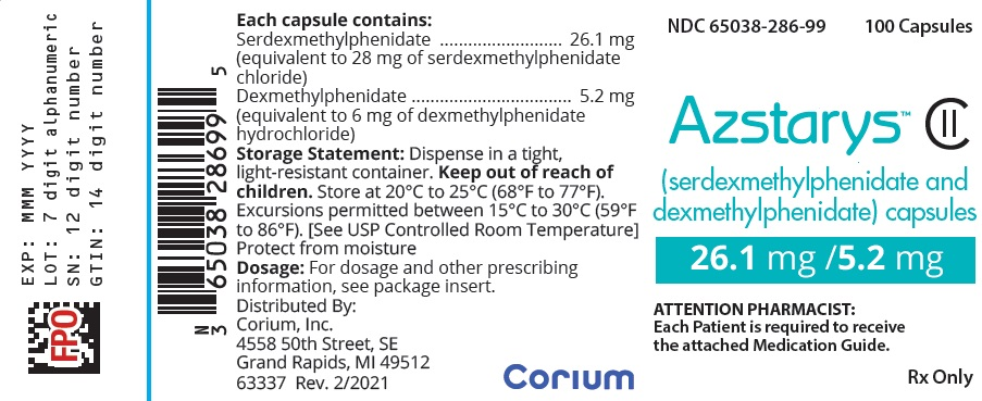 26 mg 100 count Bottle Label