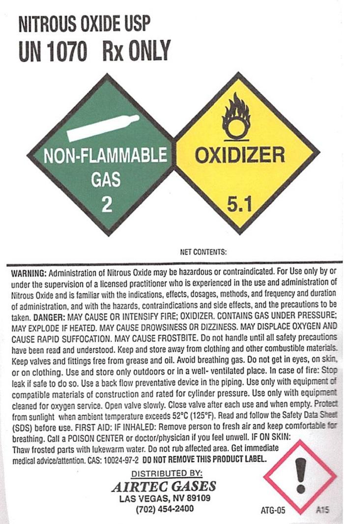 Airtech N2O2 Label