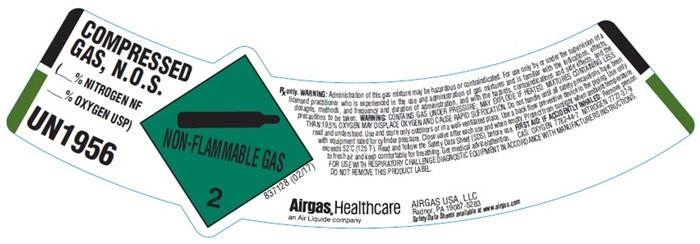 UN1956 Label