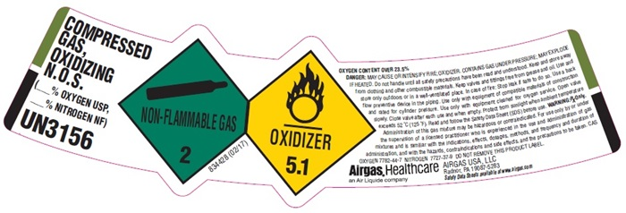 UN3156 label
