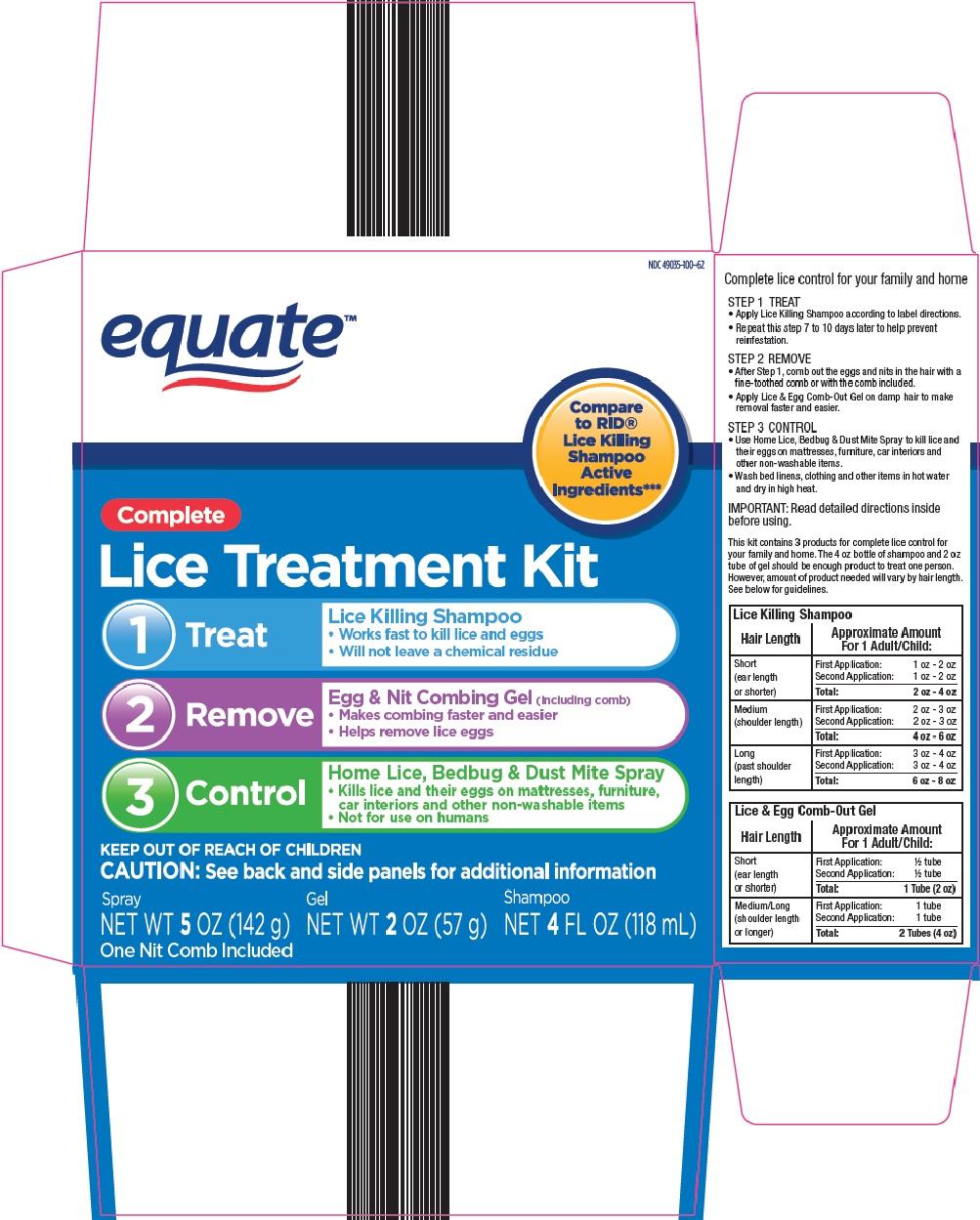 Equate Lice Treatment Kit image 1