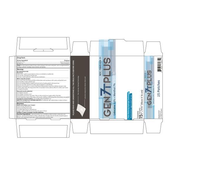 PRINCIPAL DISPLAY PANEL NDC: <a href=/NDC/70645-628-35>70645-628-35</a> GEN 7T PLUS PATCH Lidocaine 3.5% + Menthol 7% 15 PATCHES