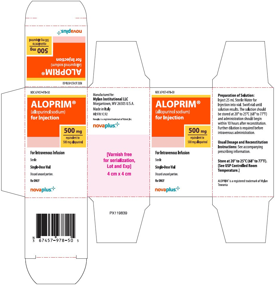 Aloprim for Injection 500 mg Carton Label