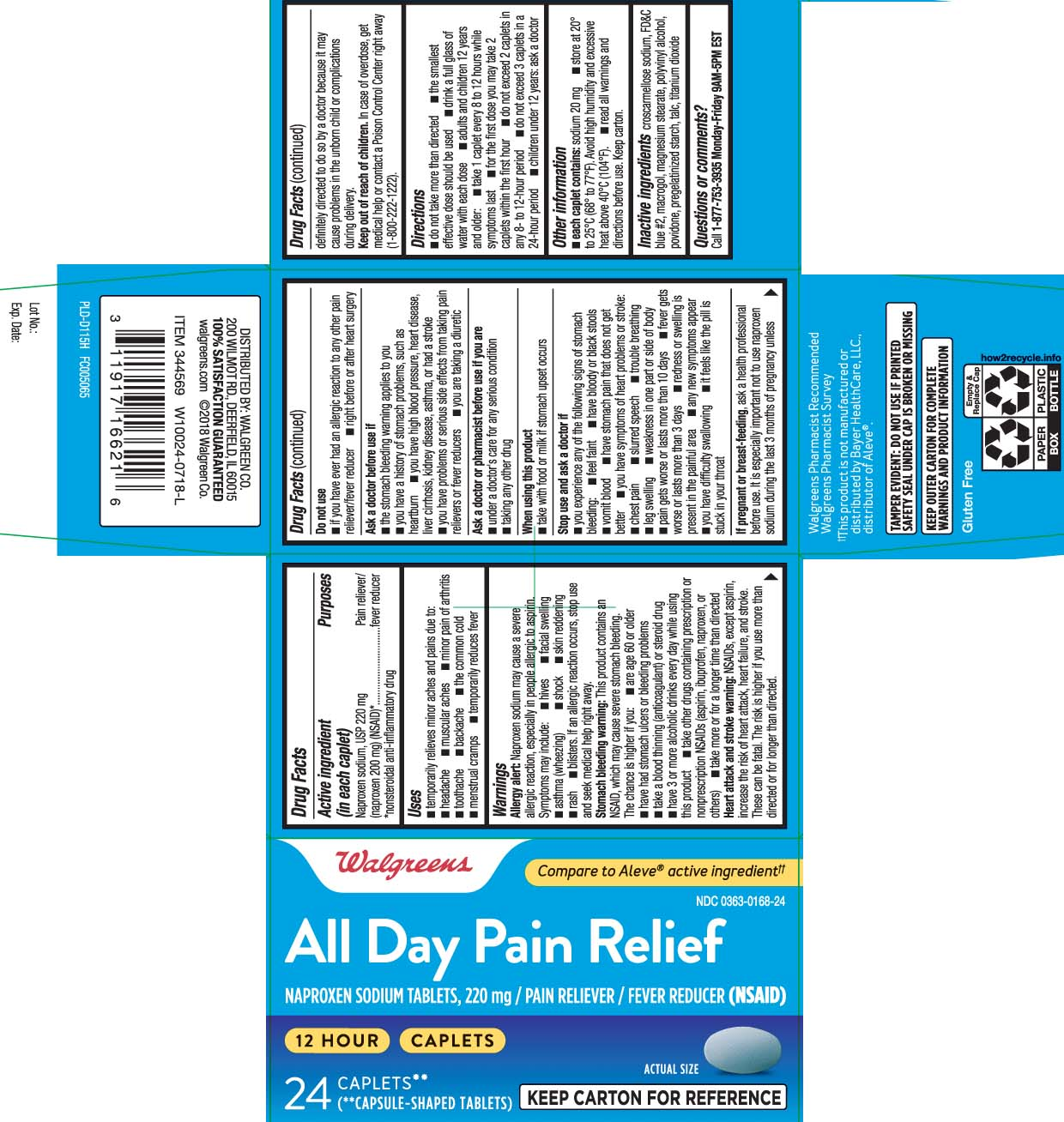 Naproxen sodium USP 220 mg (naproxen 200 mg) (NSAID)* *nonsteroidal anti-inflammatory drug