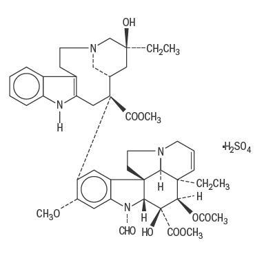 Chemical structure for vincristine sulfate