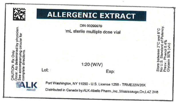 PRINCIPAL DISPLAY PANEL ALLERGENIC EXTRACT DIN 00299979 mL sterile multiple dose vial