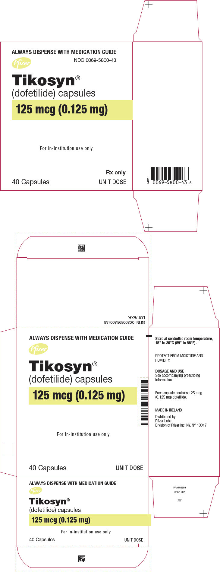 PRINCIPAL DISPLAY PANEL - 0.125 mg Capsule Blister Pack Carton