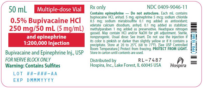PRINCIPAL DISPLAY PANEL - 250 mg/50 mL Vial Label - 9046