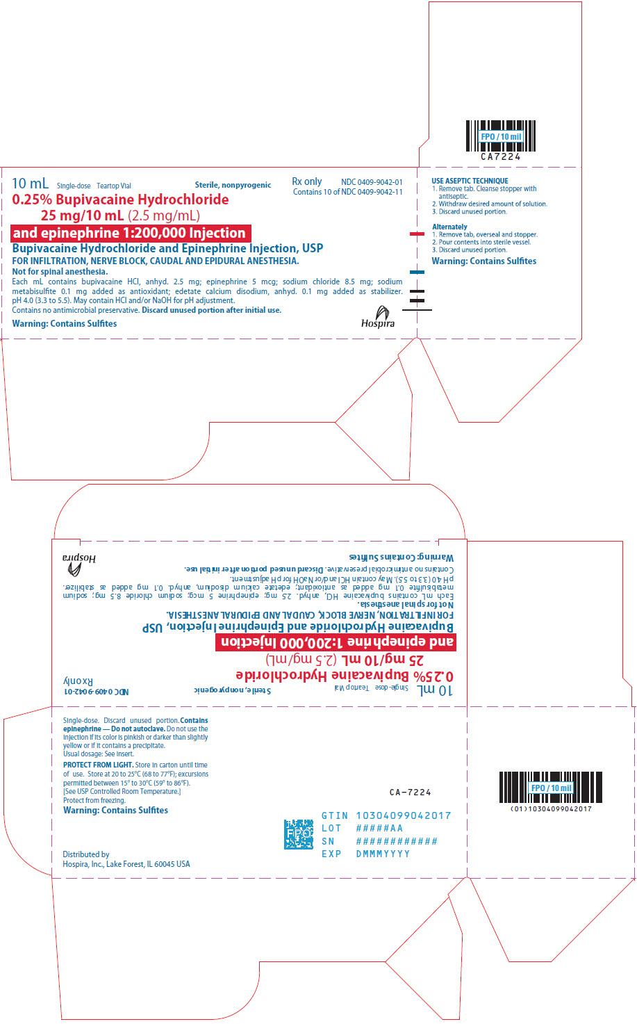 PRINCIPAL DISPLAY PANEL - 25 mg/10 mL Vial Carton