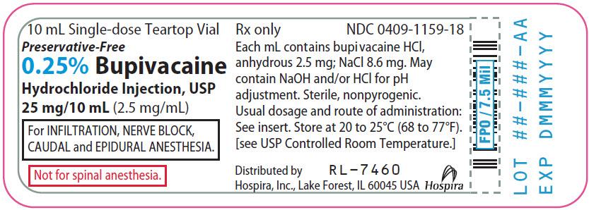 PRINCIPAL DISPLAY PANEL - 25 mg/10 mL Vial Label - 1159
