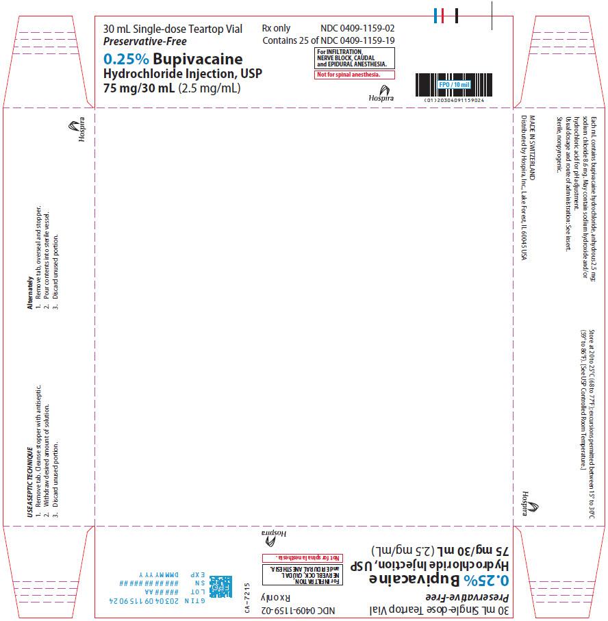 PRINCIPAL DISPLAY PANEL - 75 mg/30 mL Vial Tray - 1159