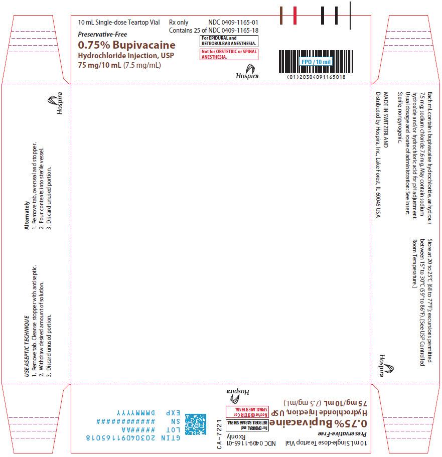 PRINCIPAL DISPLAY PANEL - 75 mg/10 mL Vial Tray