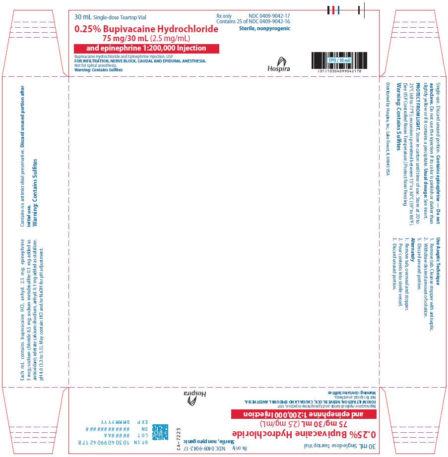 PRINCIPAL DISPLAY PANEL - 75 mg/30 mL Vial Tray - 9042