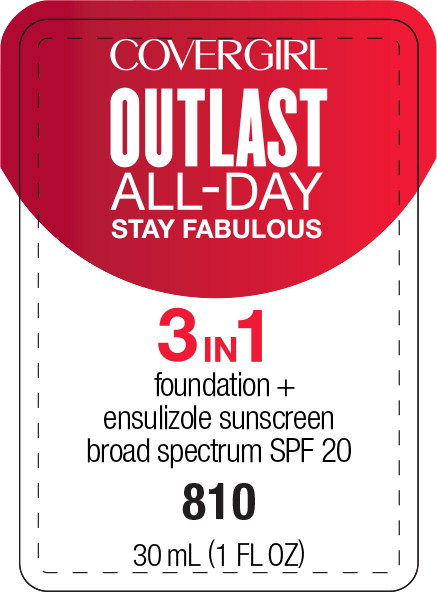 Principal Display Panel - Covergirl Outlast All-Day 3 in 1 810 Label