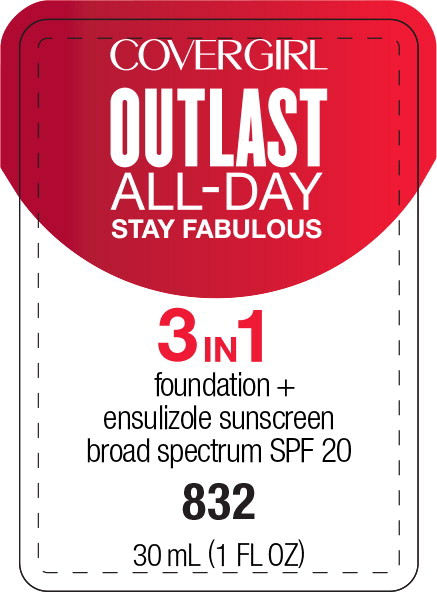 Principal Display Panel - Covergirl Outlast All-Day 3 in 1 832 Label