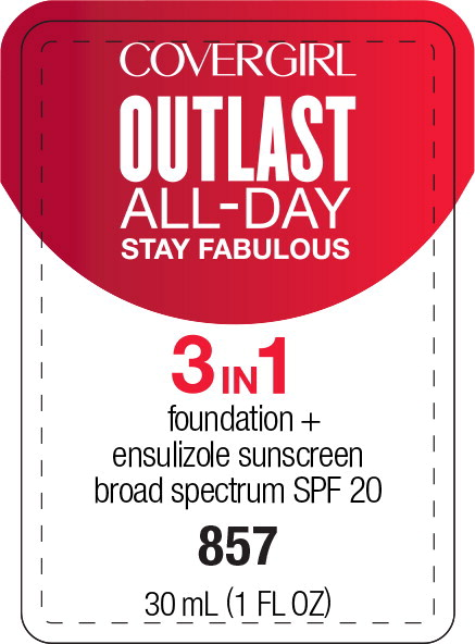Principal Display Panel - Covergirl Outlast All-Day 3 in 1 857 Label