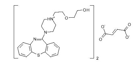 quetiapine fumarate structural formula