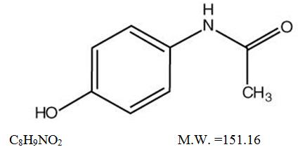 Acetaminophen-Chemical structure