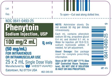 Phenytoin Sodium Injection, USP 100 mg/2 mL (50 mg/mL) 25 x 2 mL Single Dose Vials