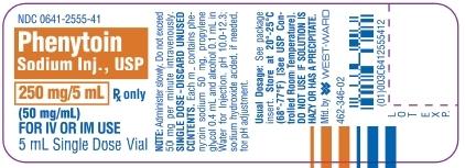 Phenytoin Sodium Injection, USP 250 mg/5 mL (50 mg/mL) 5 mL Single Dose Vial