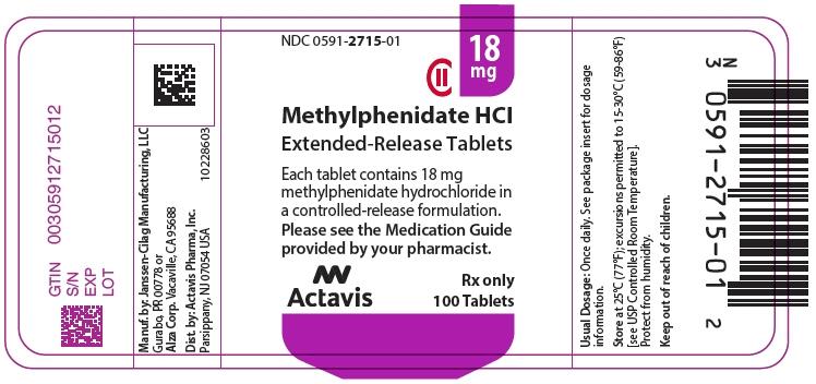 PRINCIPAL DISPLAY PANEL - 18 mg Tablet Bottle Label