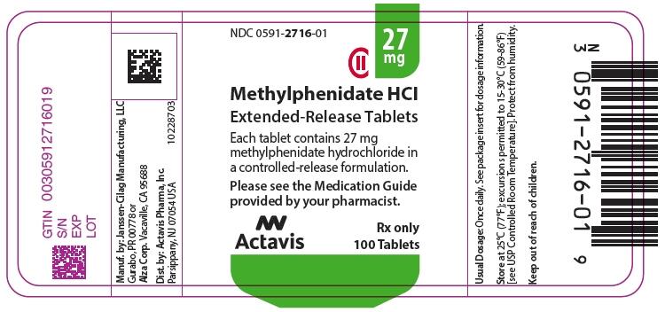 PRINCIPAL DISPLAY PANEL - 27 mg Tablet Bottle Label