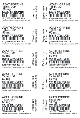 50 mg Azathioprine Tablet Blister