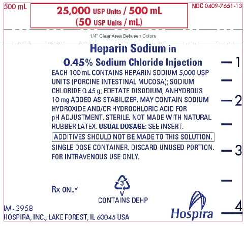 PRINCIPAL DISPLAY PANEL - 500 mL Bag Label - 7651
