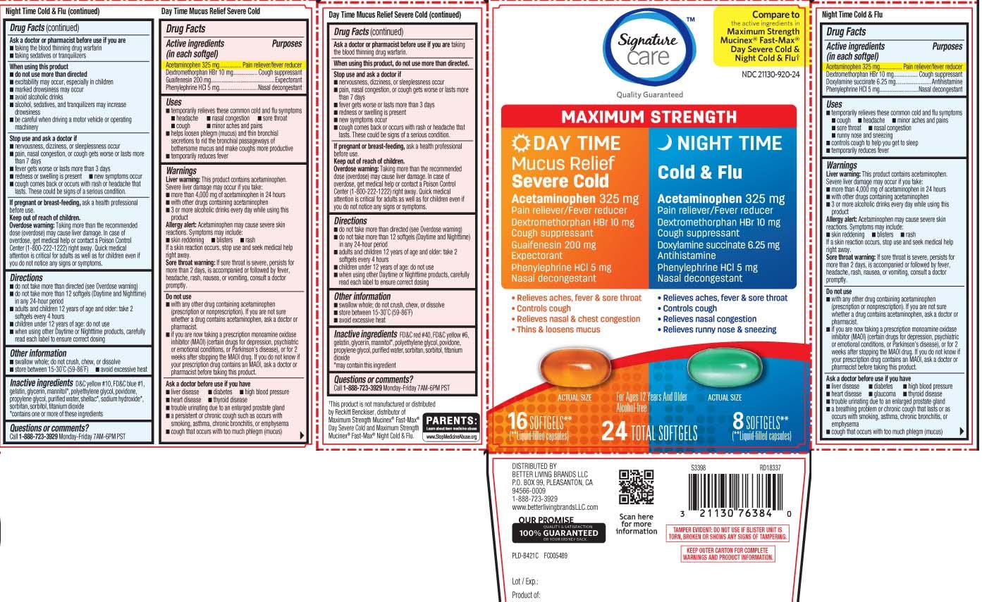 Acetaminophen 325 mg, Dextromethorphan HBr 10 mg, Guaifenesin 200 mg, Phenylephrine HCI 5 mg, Acetaminophen 325 mg, Dextromethorphan HBr 10 mg, Doxylamine Succinate 6.25 mg, Phenylephrine HCI 5 mg