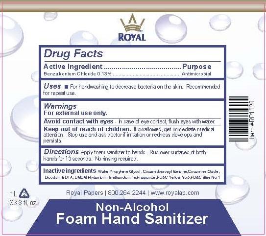 Royal Product_Labels_Non-Alc Foam Hand Sanitizer