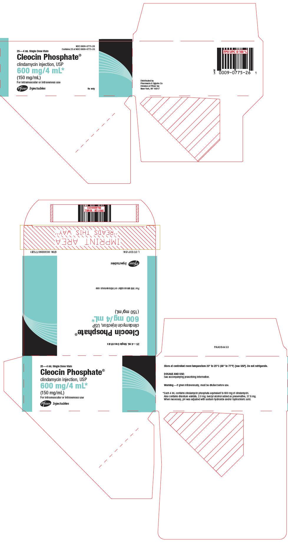PRINCIPAL DISPLAY PANEL - 600 mg/4 mL Vial Carton