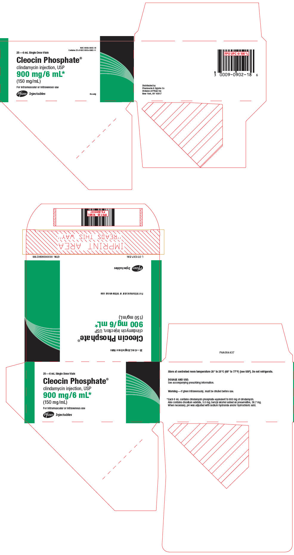 PRINCIPAL DISPLAY PANEL - 900 mg/6 mL Vial Carton