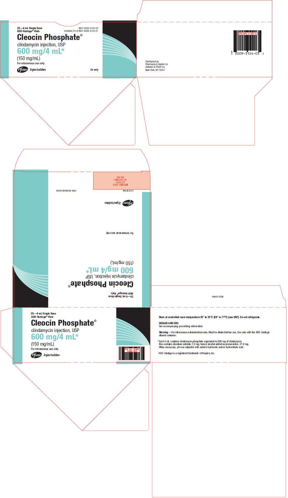 PRINCIPAL DISPLAY PANEL - 600 mg/4 mL ADD-Vantage Vial Carton