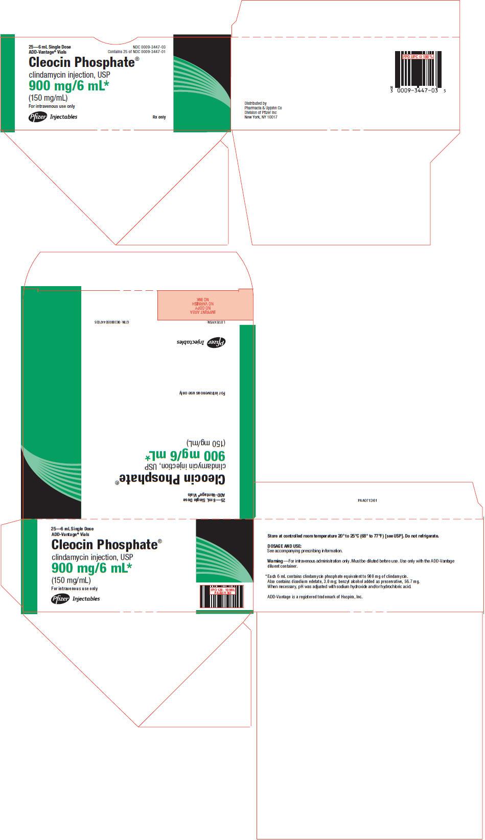 PRINCIPAL DISPLAY PANEL - 900 mg/6 mL ADD-Vantage Vial Carton