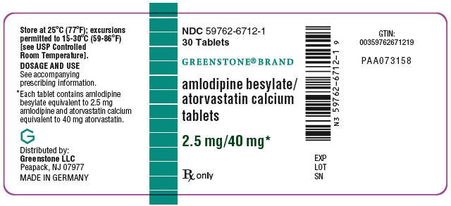 PRINCIPAL DISPLAY PANEL - 2.5 mg/40 mg Tablet Bottle Label