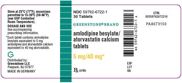 PRINCIPAL DISPLAY PANEL - 5 mg/40 mg Tablet Bottle Label