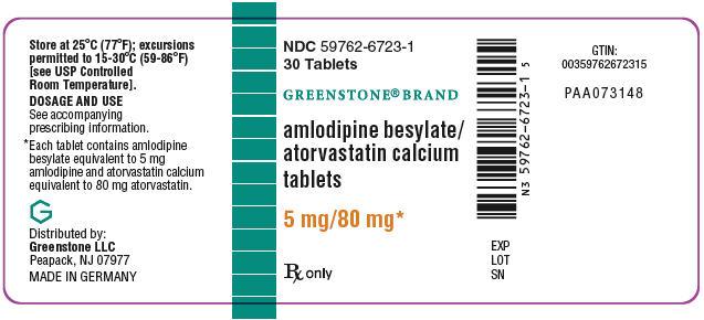 PRINCIPAL DISPLAY PANEL - 5 mg/80 mg Tablet Bottle Label