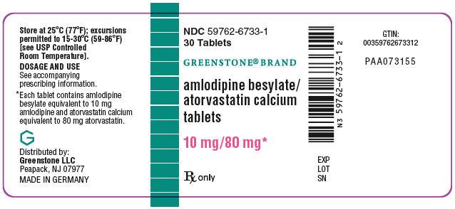PRINCIPAL DISPLAY PANEL - 10 mg/80 mg Tablet Bottle Label
