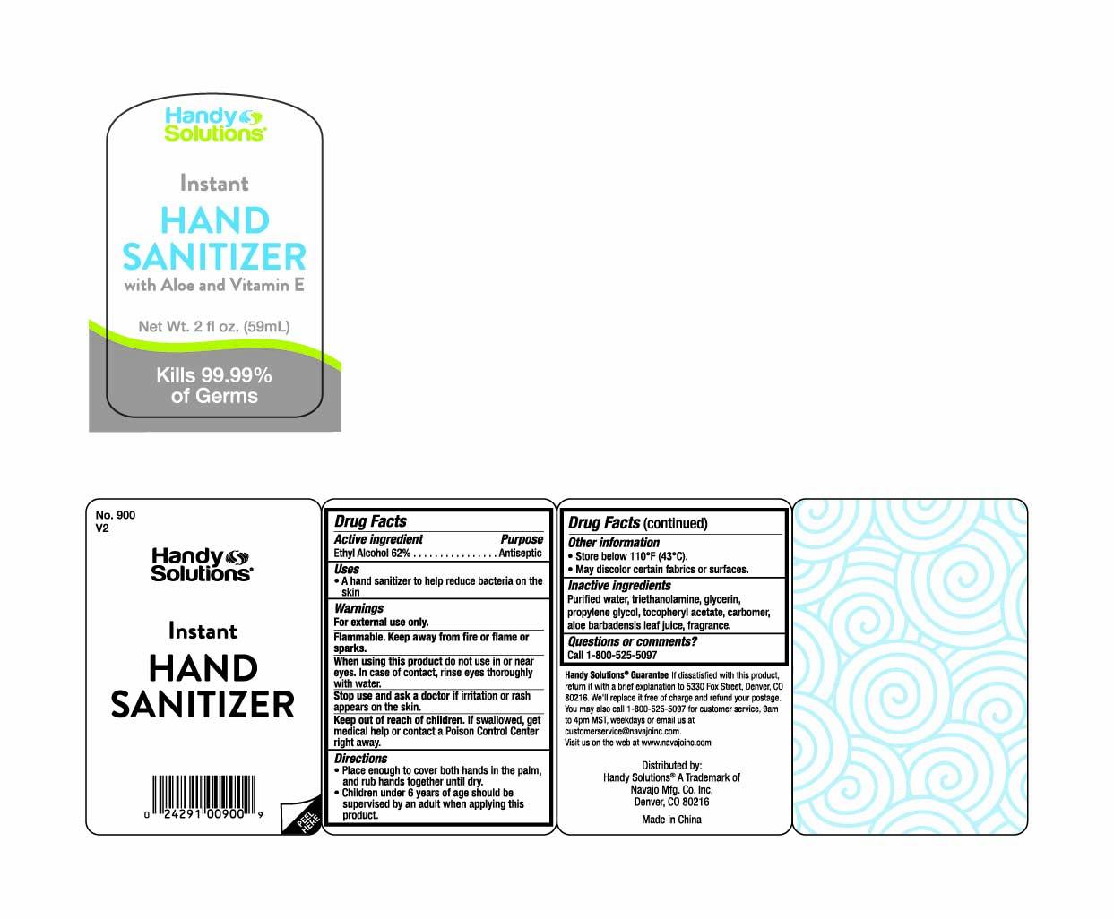 Hand Sanitizer Bottle Label