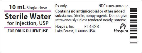 Principal Display Panel - Sterile Water Vial Label