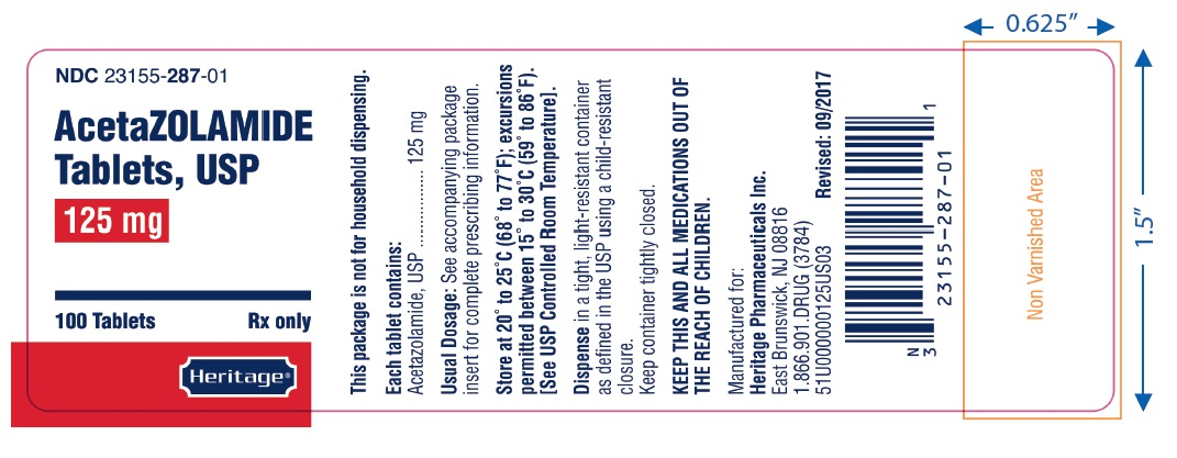 label 125 mg 100 tablets