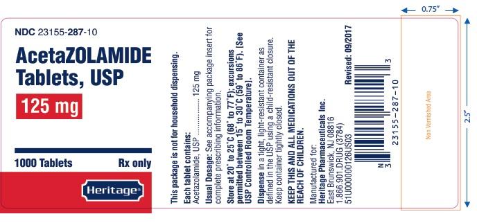 label 125 mg 1000 tablets