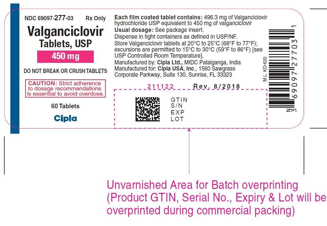 Valganciclovir Tablets, USP 450mg label 60s CiplaUSA