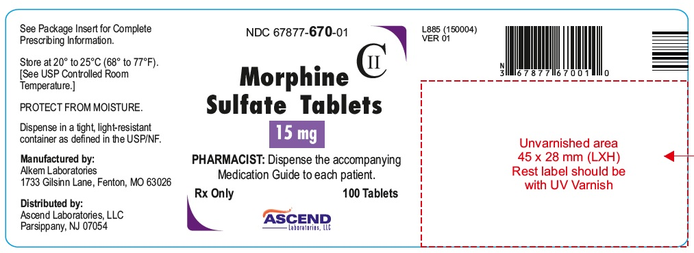 Container Label15 mg 100's count
