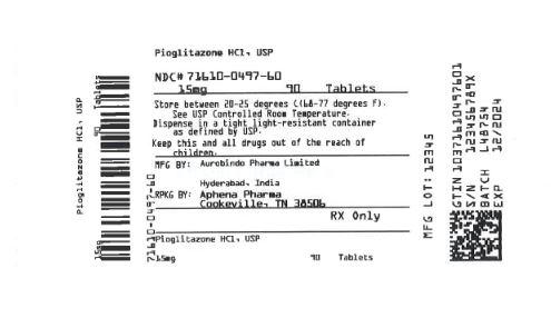 Bottle Label 15 mg